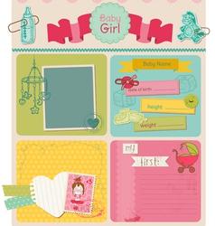 Scrapbook design elements - bagirl cute set vector