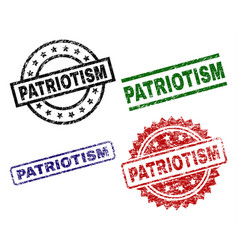 Scratched textured patriotism stamp seals vector