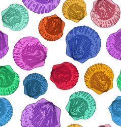 Seamless pattern of seashells vector image