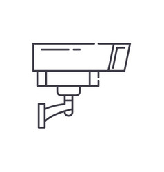security camera line icon concept security camera vector image