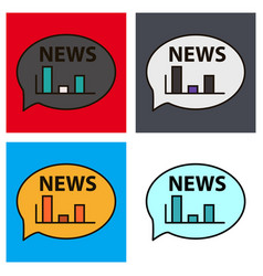 Set of breaking news online announcement message vector