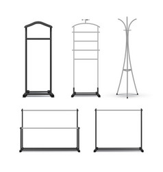 Set of clothes racks vector