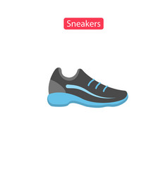 sneakers flat fit icons vector image