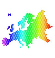 Spectrum hexagon europe map vector