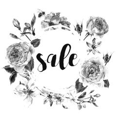 spring vintage floral sale card vector image