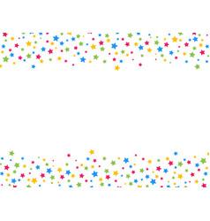 star shape colorful confetti border vector image