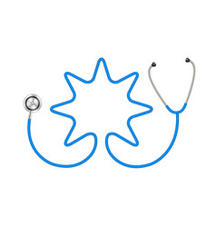 Stethoscope in shape of star in blue design vector