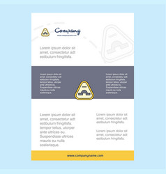 Template layout for jump road sign comany profile vector