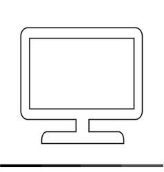 tv hd icon design vector image
