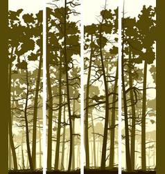 Vertical banners coniferous wood vector