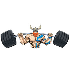 viking gym mascot vector image