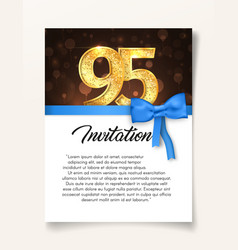 wedding invitation card template to the day of the vector image