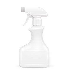 white blank spray pistol cleaner plastic bottle vector image