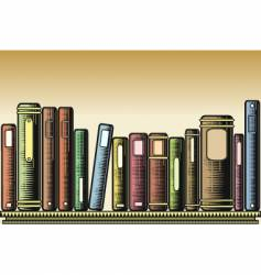 woodcut books vector image