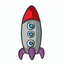 cartoon rocket kids t-shirt design vector image