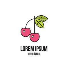 Cherry Logo vector image vector image