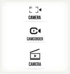 Set of symbols for video vector image vector image