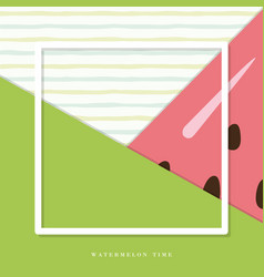 summer abstract watermelon background vector image vector image