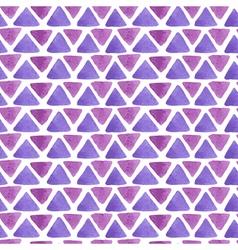 triangle watercolor pattern purple vector image vector image
