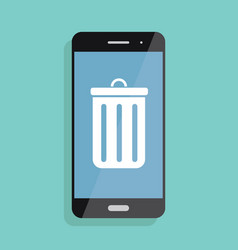 and icon of smartphone and mobile vector image