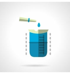 Chemical experiment flat color icon vector image vector image
