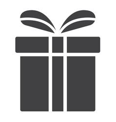 christmas gift box glyph icon new year vector image vector image