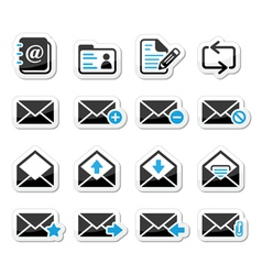 Email mailbox icons set as labels vector