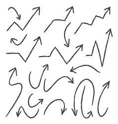 Hand Drawn arrows for info graphic design vector image