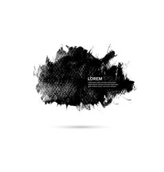 Watercolor background with black paint vector image