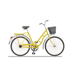 bicycle pedal vehicle with travel basket vector image vector image