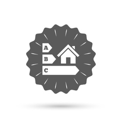Energy efficiency icon House building symbol vector image