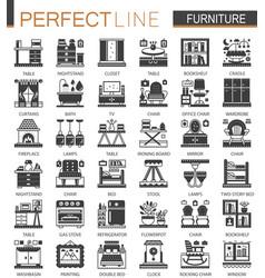 furniture interior classic black mini concept vector image vector image