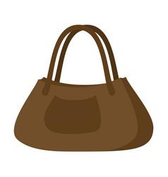 icon in flat design fashion clothes ladies handbag vector image