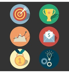Success concept icons set vector
