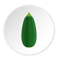 Zucchini icon flat style vector