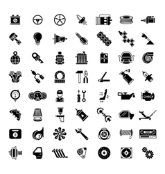 Black car parts icons vector image vector image