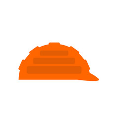 construction orange helmet isolated industrial vector image vector image