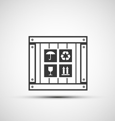 Icons wooden box vector