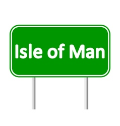 Isle of Man road sign vector image vector image