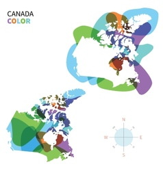 Abstract color map canada vector