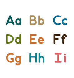 Alphabet part 1 big and small letters vector