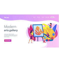 Art studio concept landing page vector