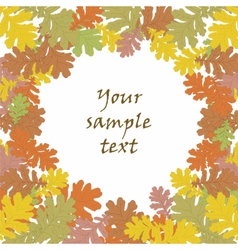 Autumn background with round leaves vector