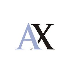 ax initials letter logo vector image