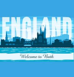 bath united kingdom city skyline silhouette vector image