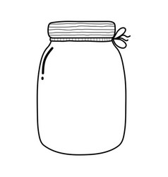 Black and white empty jar isolated element vector