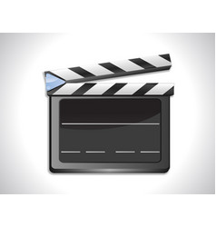 Blank film slate ciak on landscape background vector