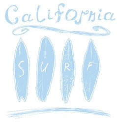 California surf typography t-shirt Printing design vector