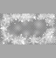 christmas background defocused snowflakes vector image