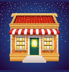 Christmas gift presents shop store holiday market vector